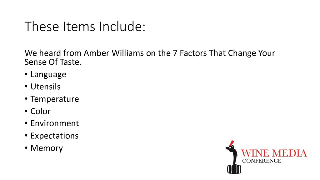 These Items Include: We heard from Amber Willia...