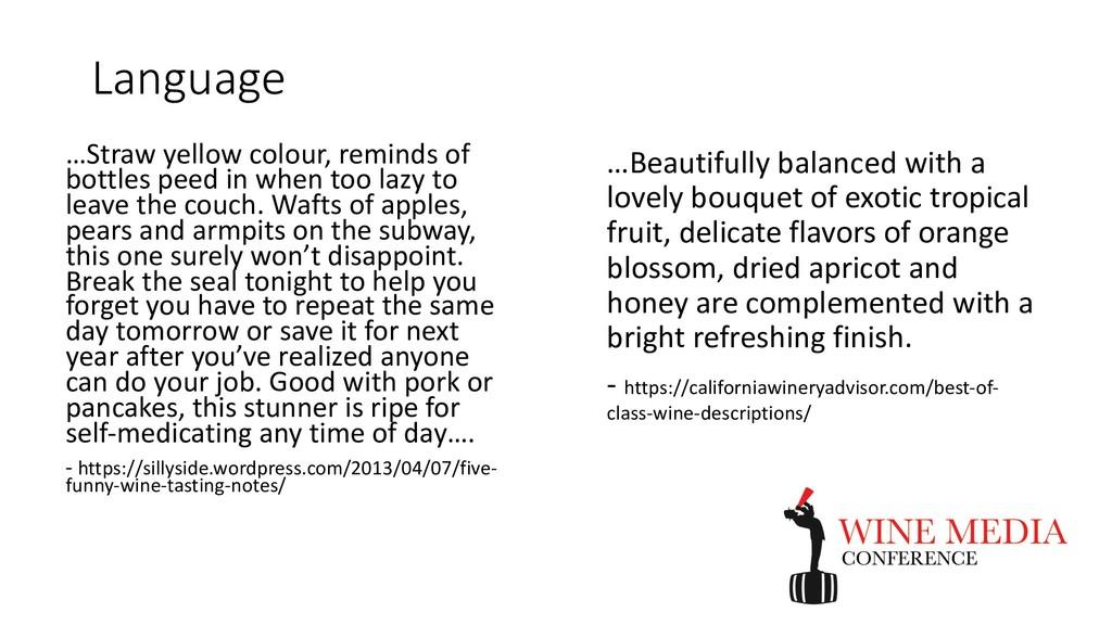 Language …Beautifully balanced with a lovely bo...