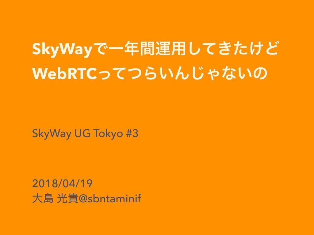 SkyWayͰҰؒӡ༻͖͚ͯͨ͠Ͳ WebRTCͬͯͭΒ͍Μ͡Όͳ͍ͷ SkyWay UG...