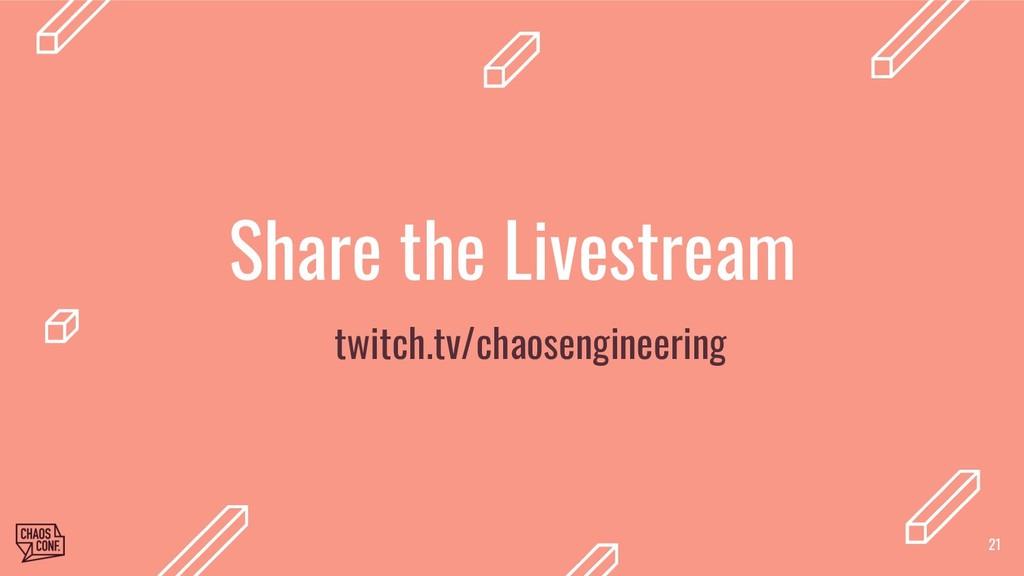 Share the Livestream twitch.tv/chaosengineerin...