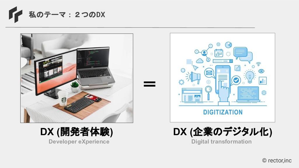 © rector,inc 私のテーマ:2つのDX Developer eXperience D...