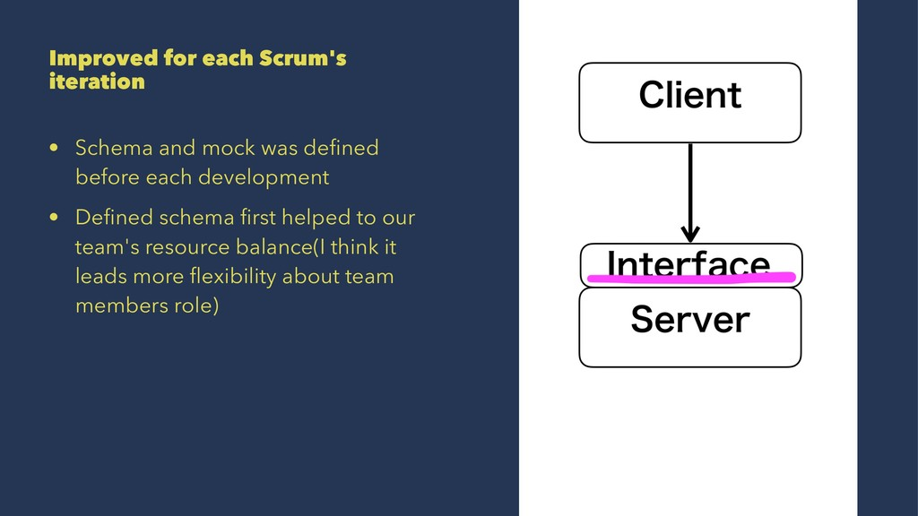 Improved for each Scrum's iteration • Schema an...