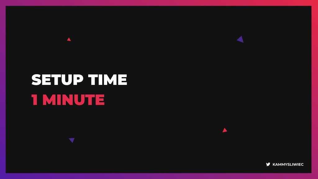KAMMYSLIWIEC SETUP TIME 1 MINUTE