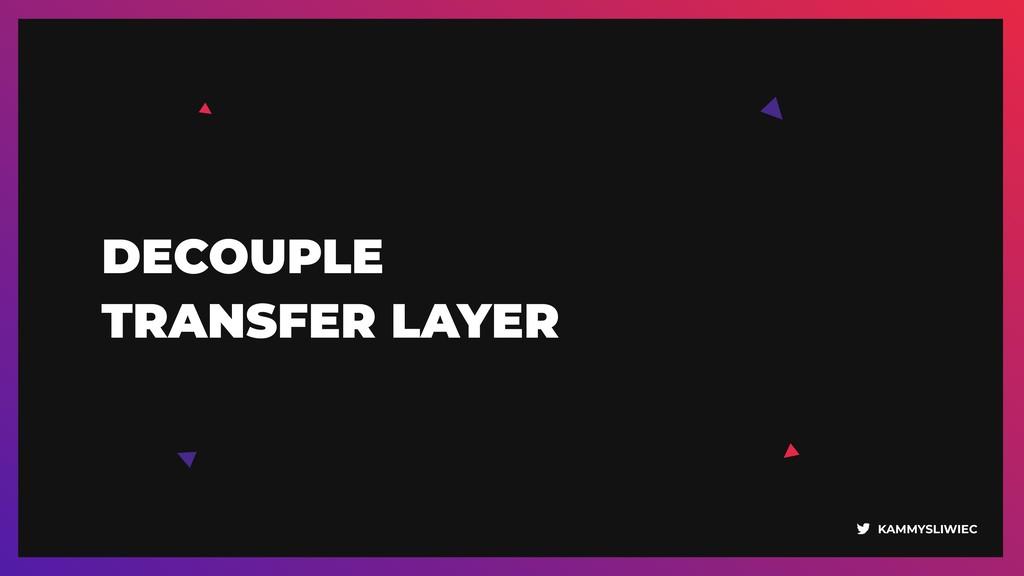 KAMMYSLIWIEC DECOUPLE  TRANSFER LAYER