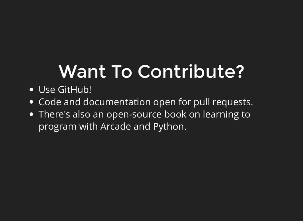 Want To Contribute? Want To Contribute? Use Git...