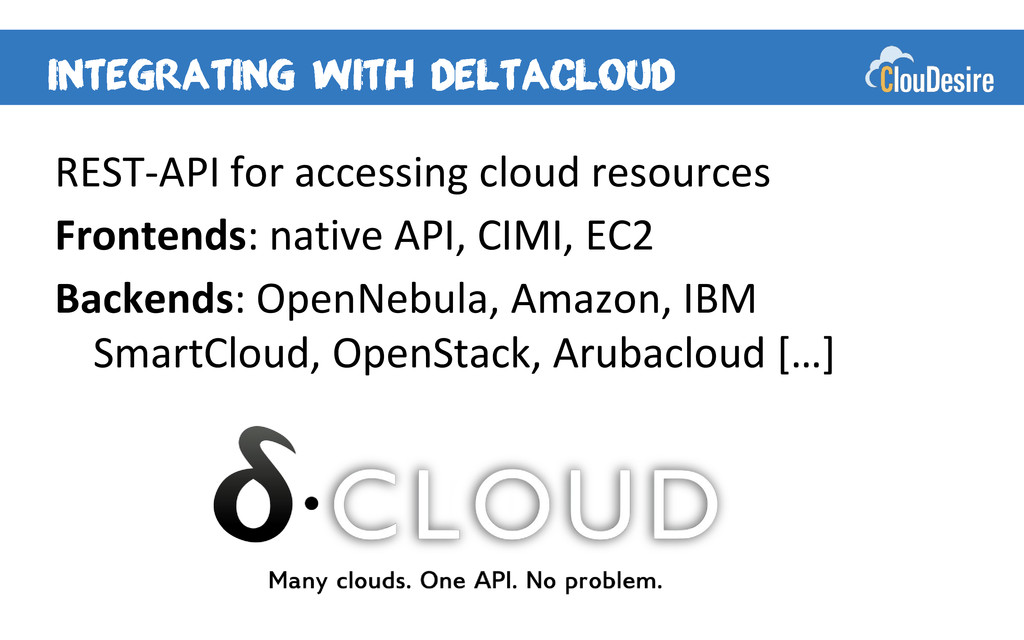 REST-API for accessing cloud resources Frontend...