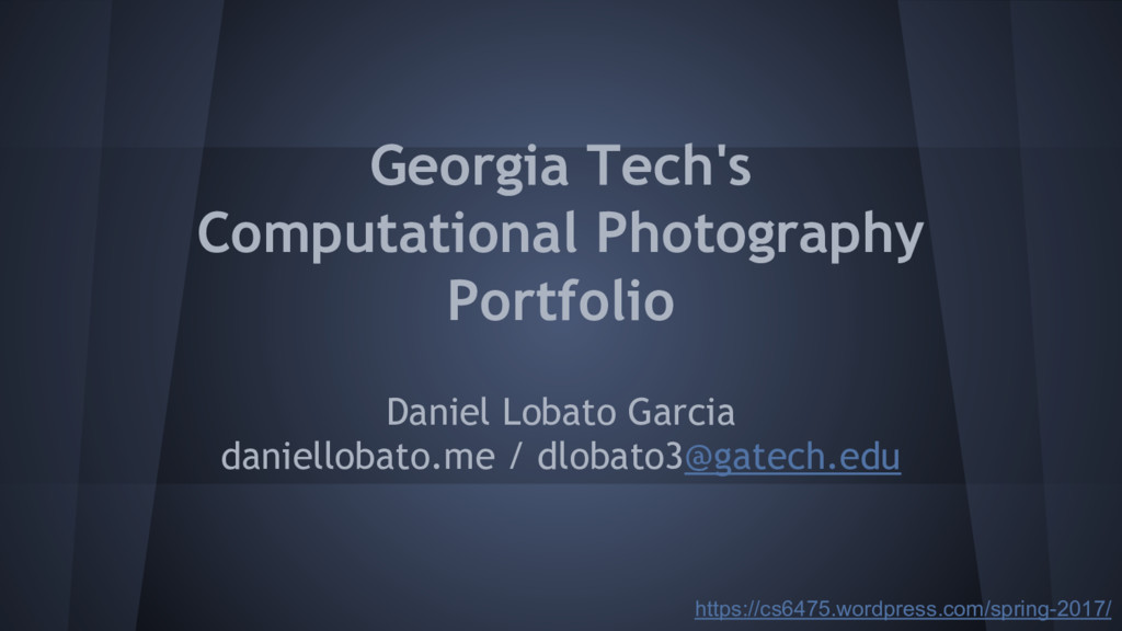 Georgia Tech's Computational Photography Portfo...