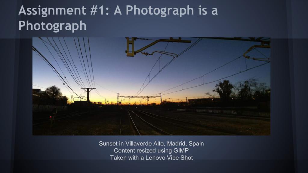 Assignment #1: A Photograph is a Photograph Sun...