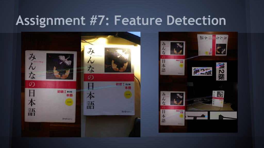 Assignment #7: Feature Detection