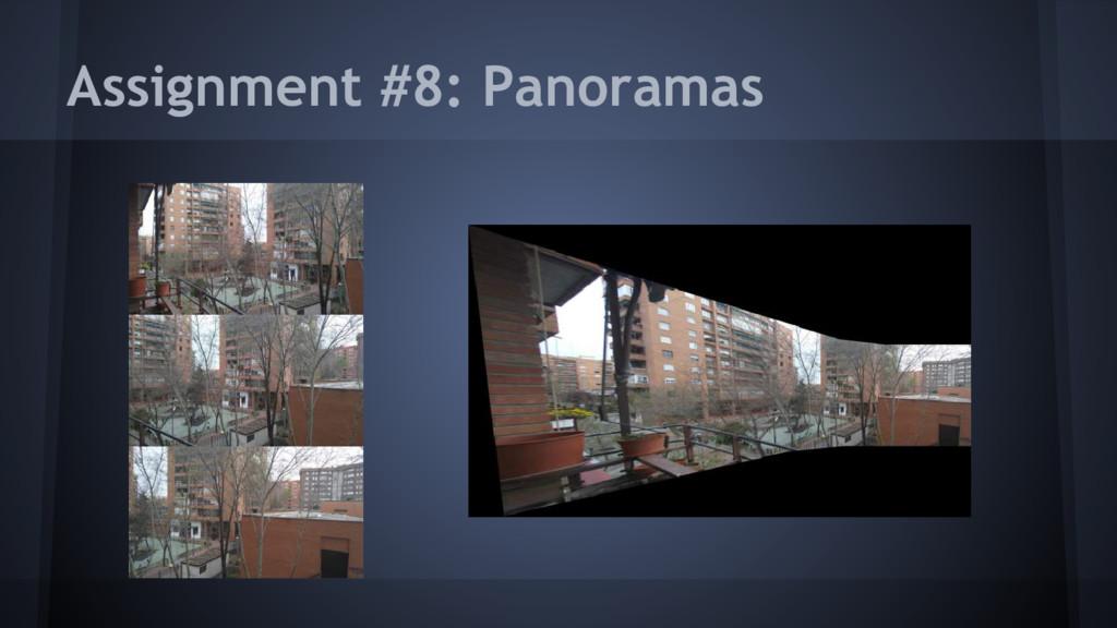Assignment #8: Panoramas
