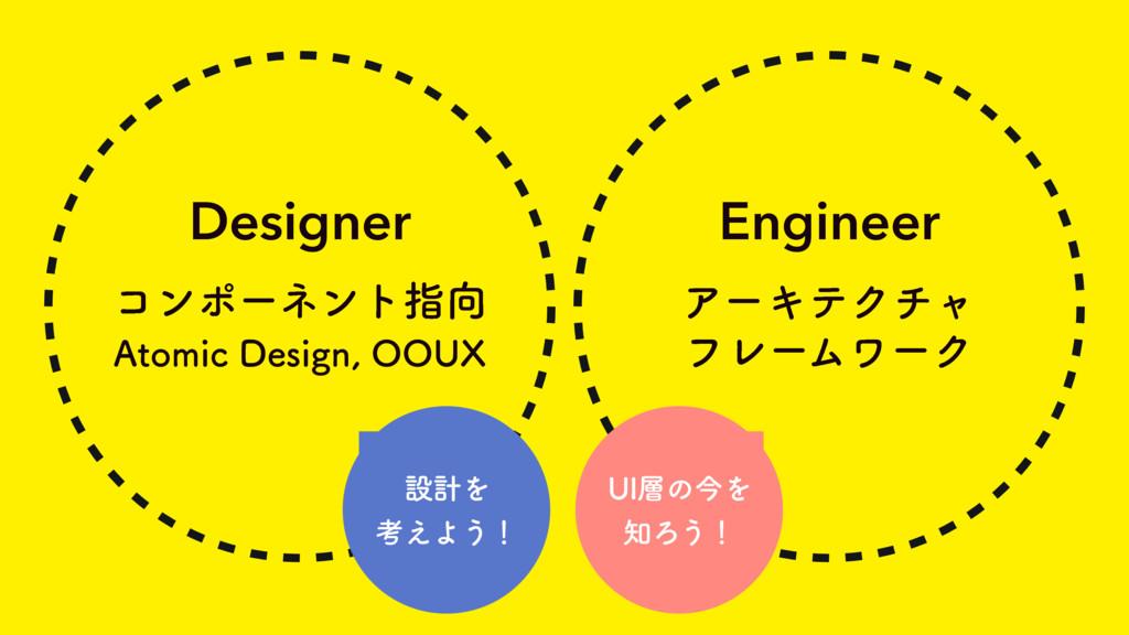 Designer ίϯϙʔωϯτࢦ Engineer ΞʔΩςΫνϟ ϑϨʔϜϫʔΫ 6*...