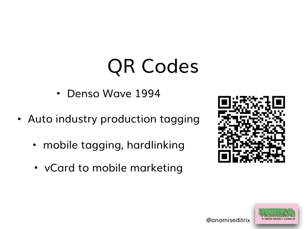 QR Codes • vCard to mobile marketing • Denso Wa...