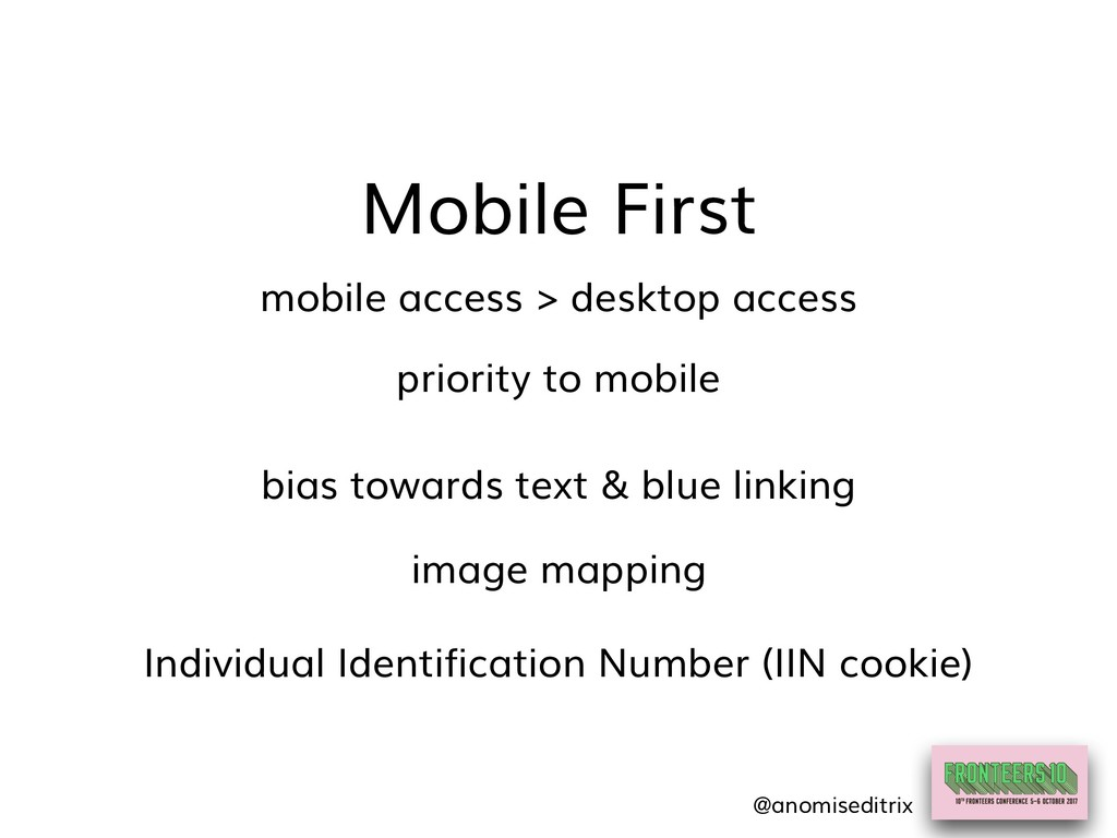 Mobile First image mapping mobile access > desk...