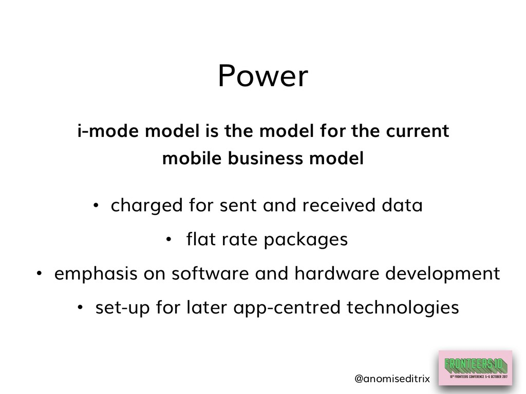 Power i-mode model is the model for the current...