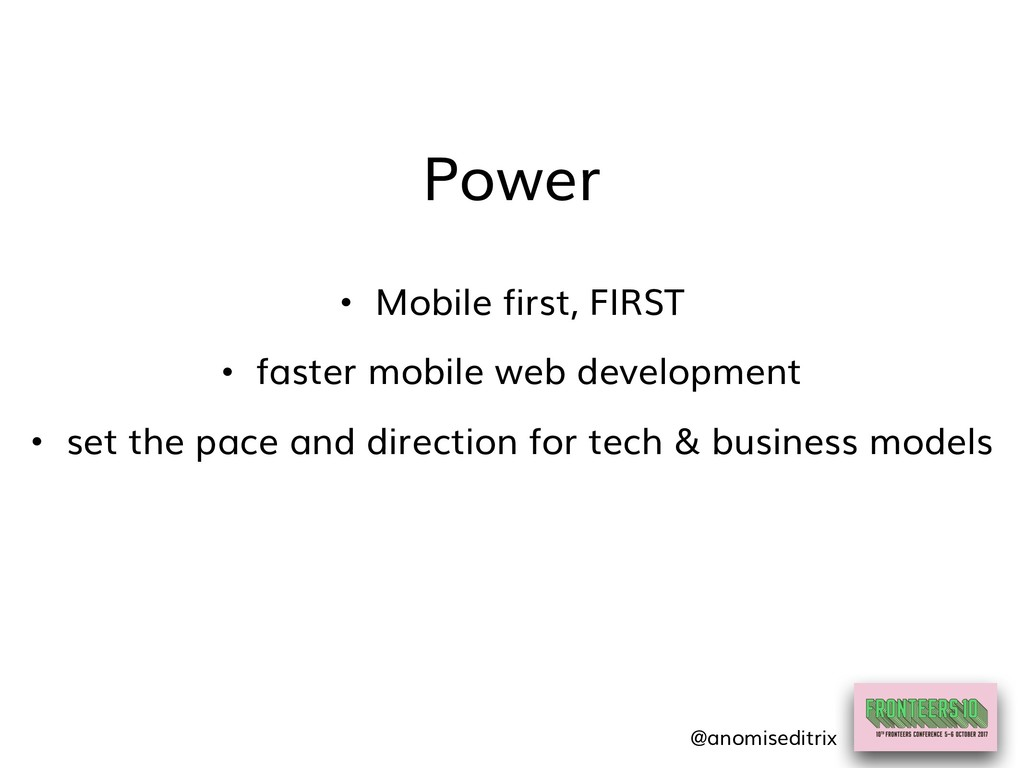 Power • set the pace and direction for tech & b...