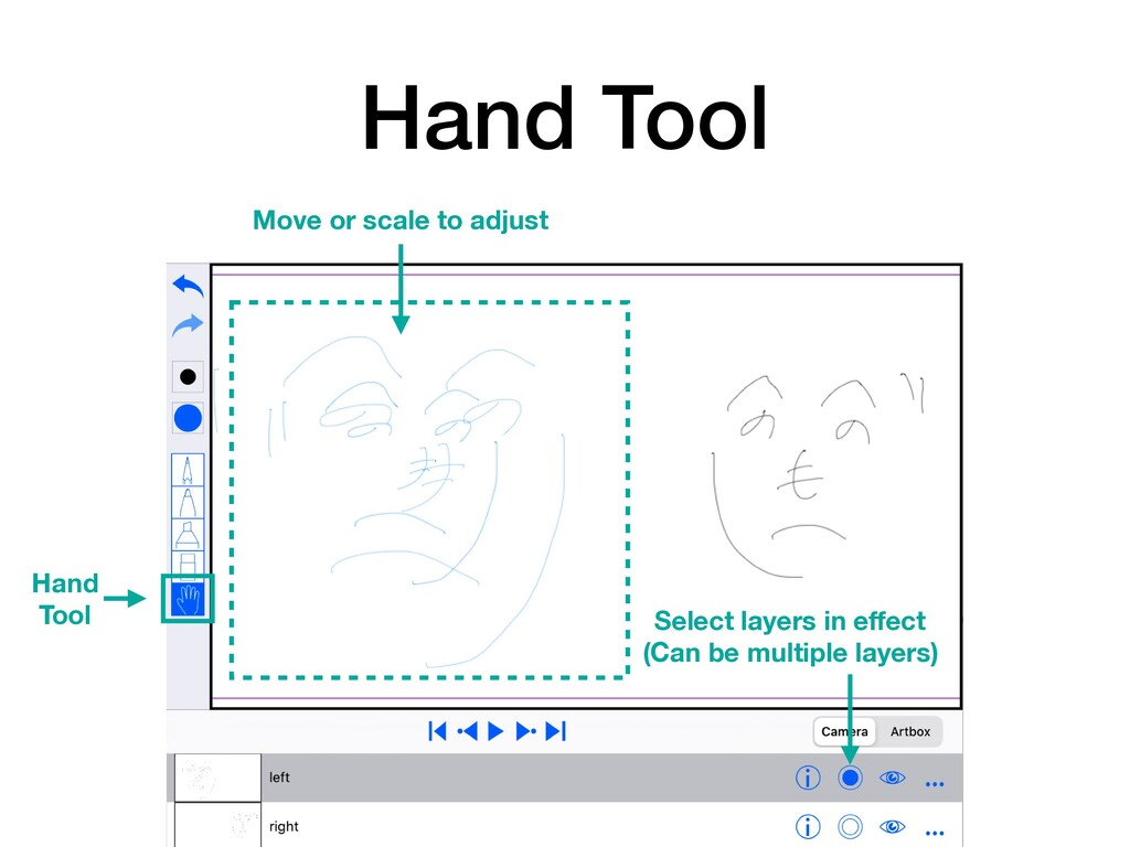 Hand Tool Select layers in effect (Can be multip...