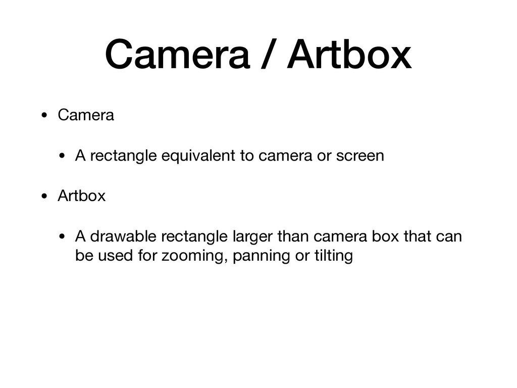 Camera / Artbox • Camera  • A rectangle equival...