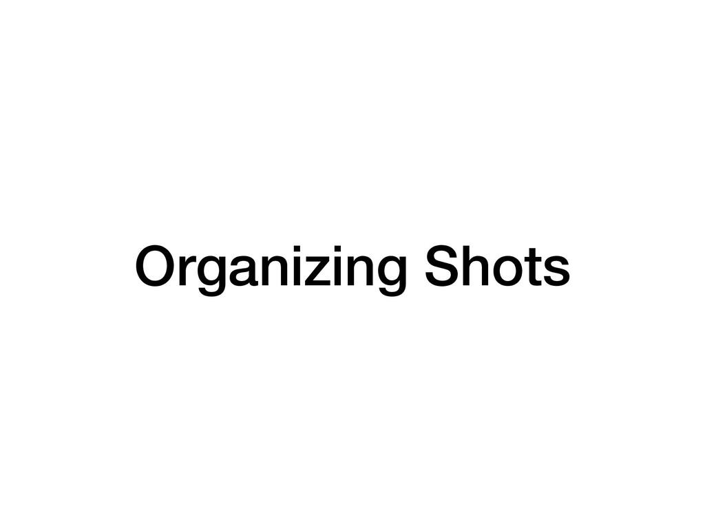 Organizing Shots