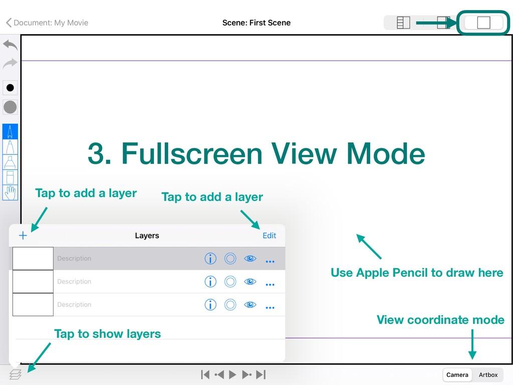 3. Fullscreen View Mode View coordinate mode Ta...