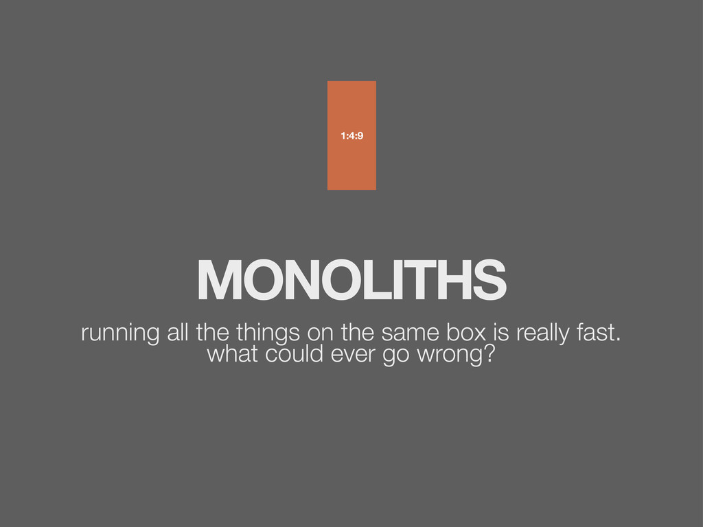 MONOLITHS running all the things on the same bo...