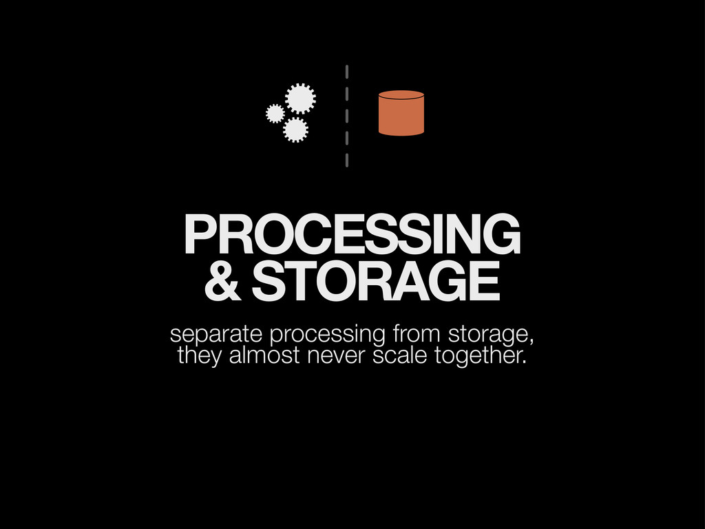PROCESSING & STORAGE separate processing from s...