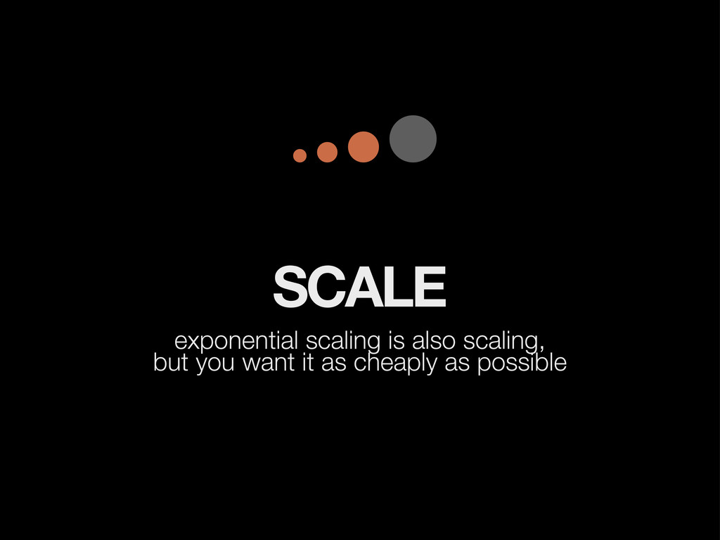 SCALE exponential scaling is also scaling, but ...