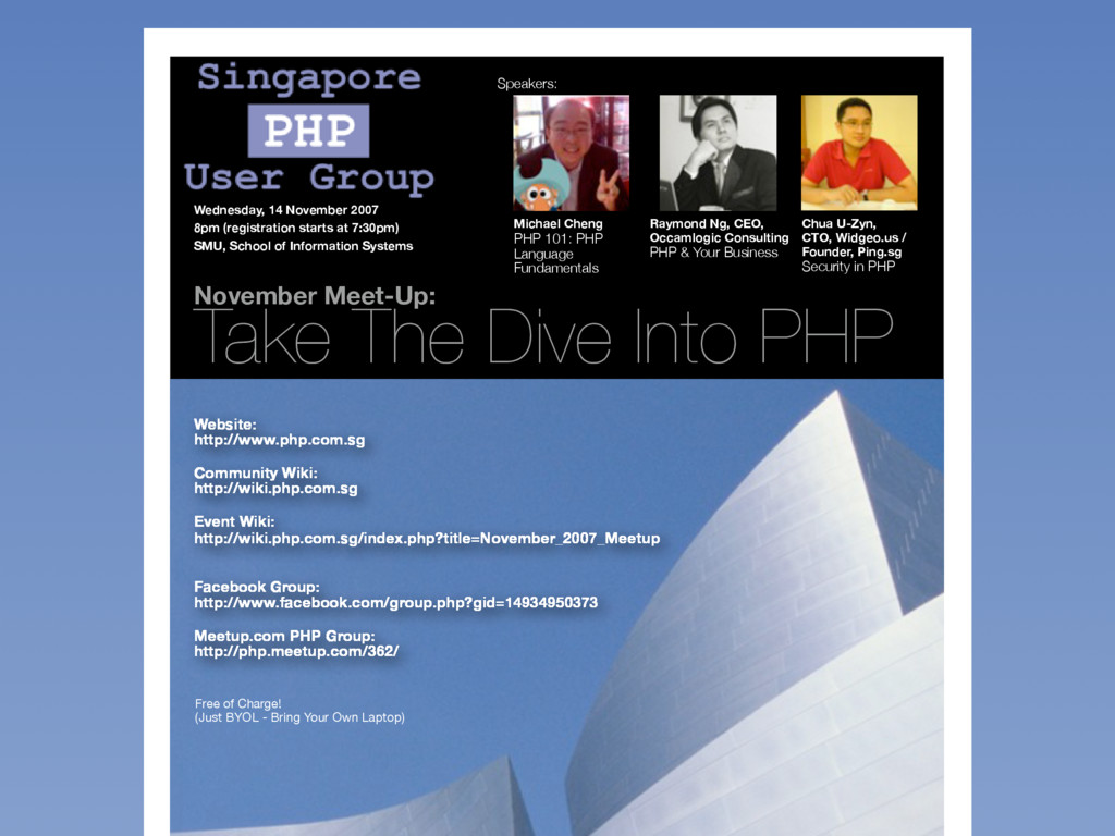 November Meet-Up: Take The Dive Into PHP Michae...