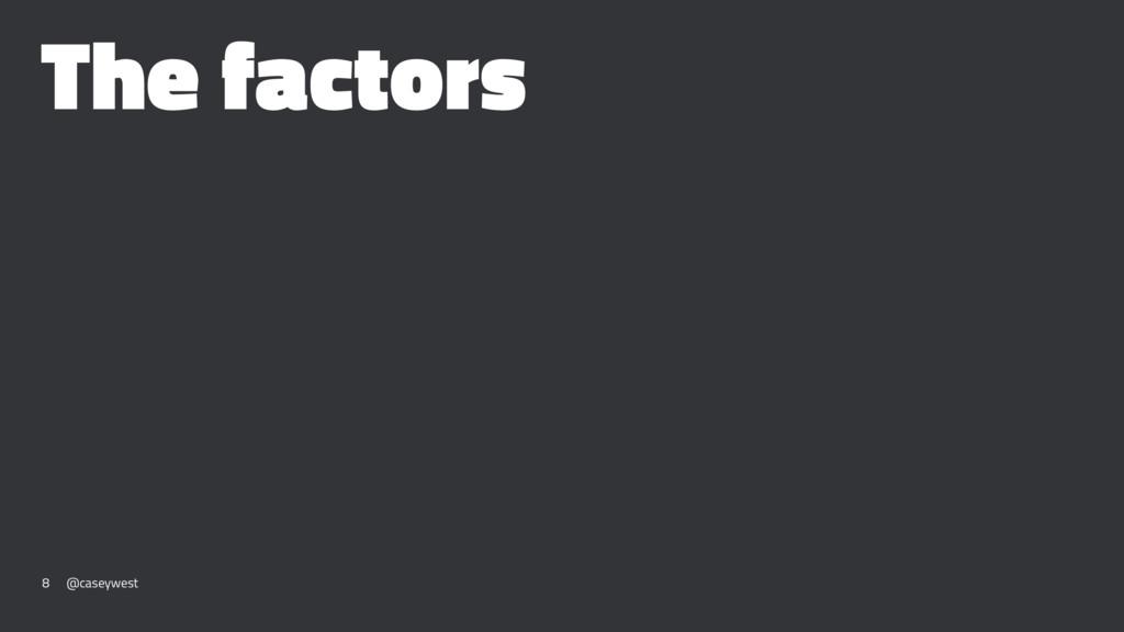 The factors 8 @caseywest