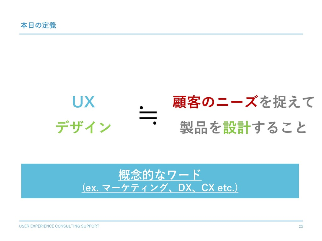 USER EXPERIENCE CONSULTING SUPPORT 22 69 デザイン 本...