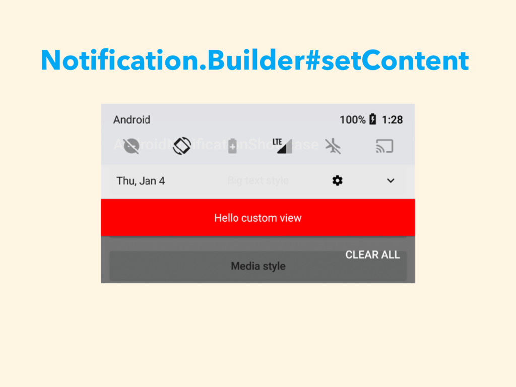 Notification.Builder#setContent