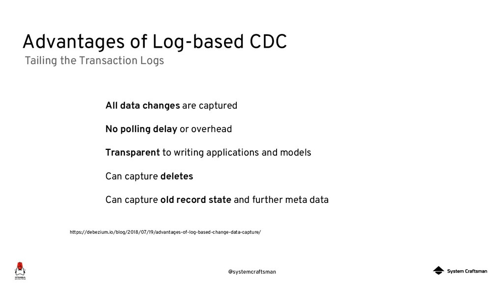 @systemcraftsman Advantages of Log-based CDC Ta...