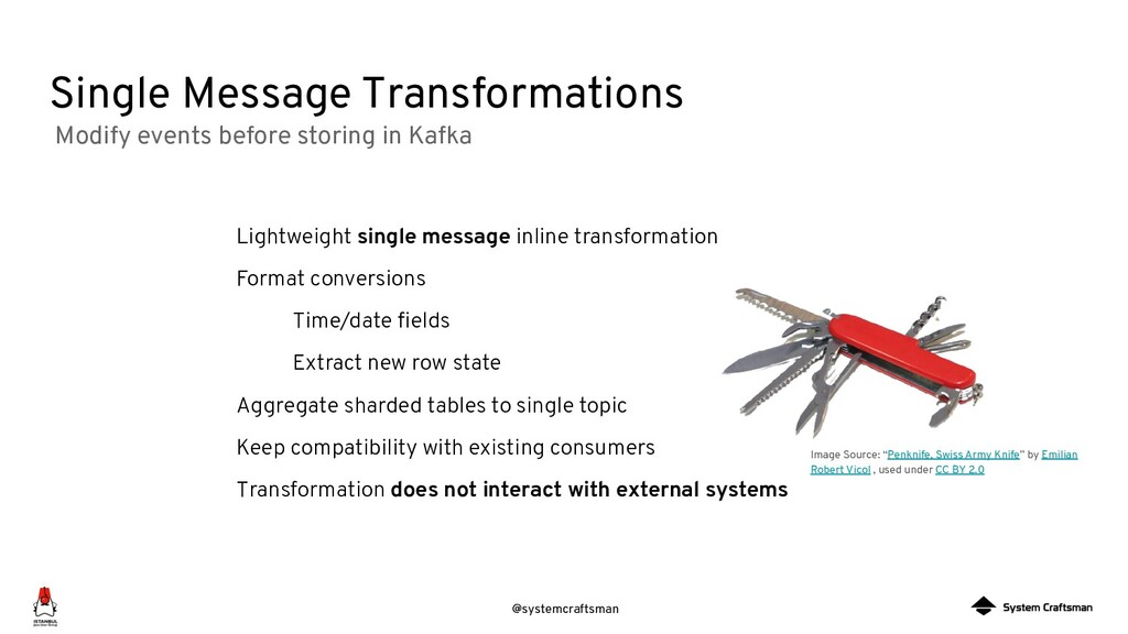 @systemcraftsman Single Message Transformations...