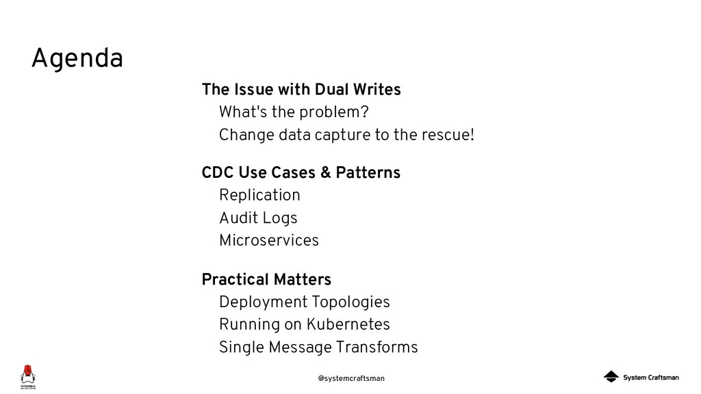 @systemcraftsman Agenda The Issue with Dual Wri...