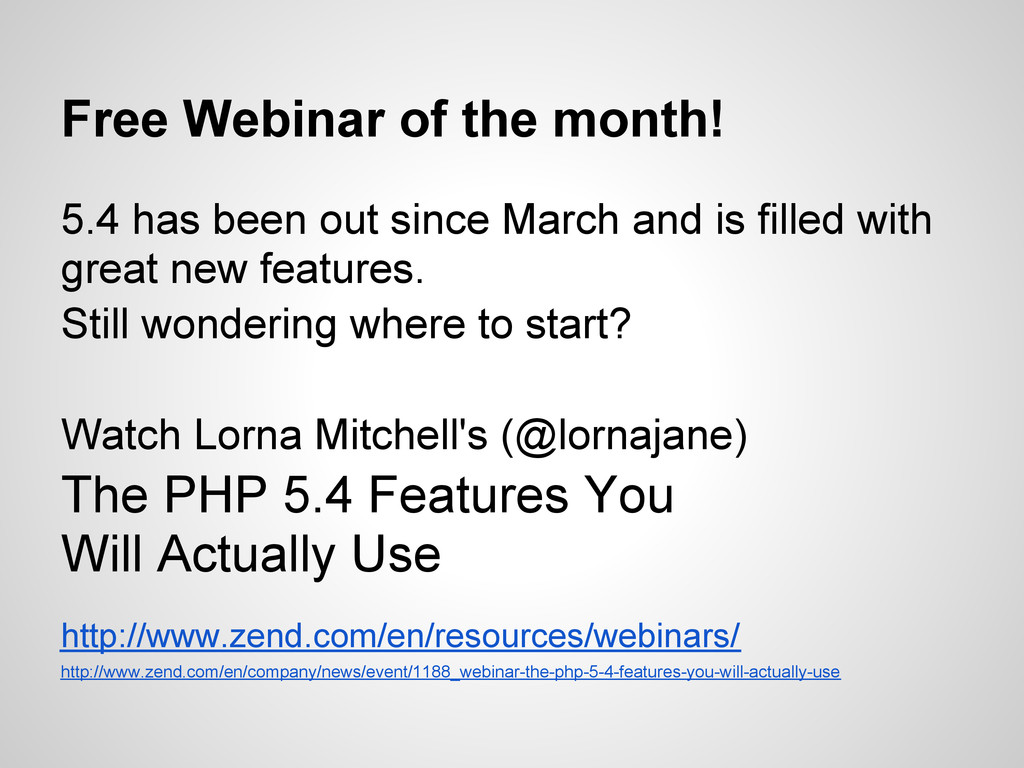 Free Webinar of the month! 5.4 has been out sin...