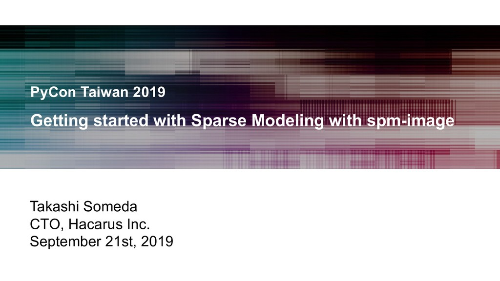 PyCon Taiwan 2019 Getting started with Sparse M...