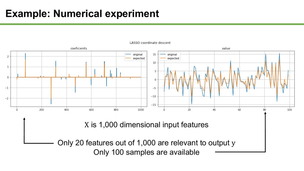 X is 1,000 dimensional input features Only 20 f...