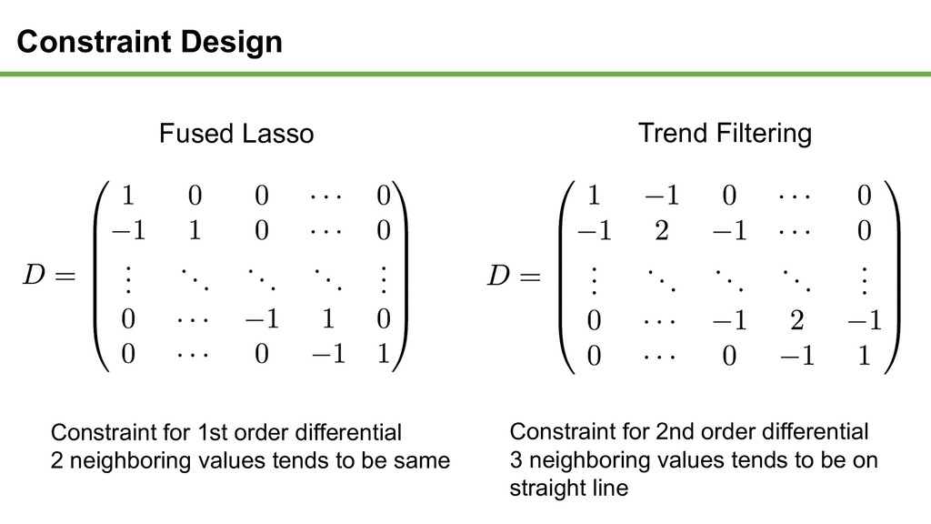 Constraint Design Constraint for 1st order diff...