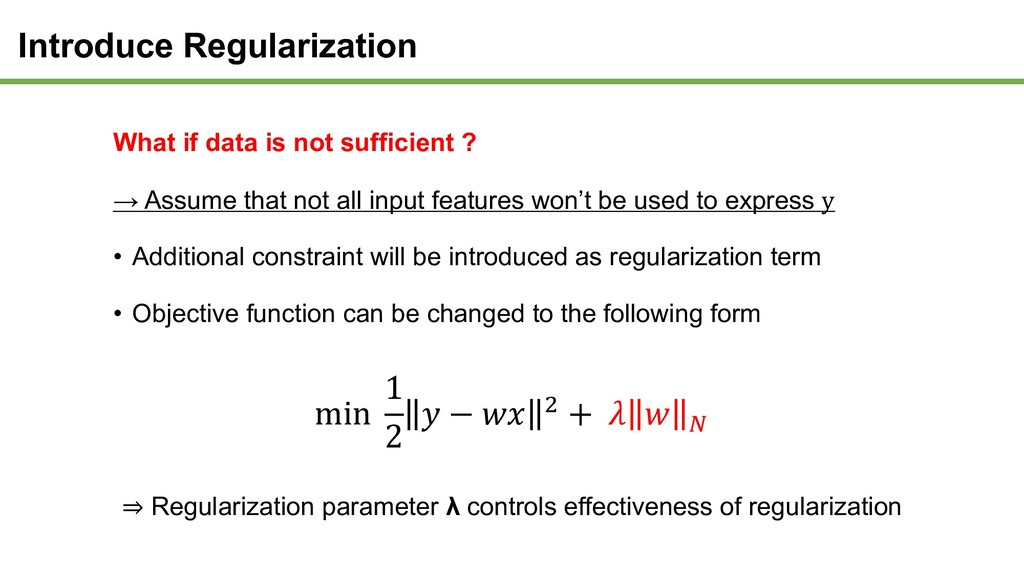What if data is not sufficient ? → Assume that ...