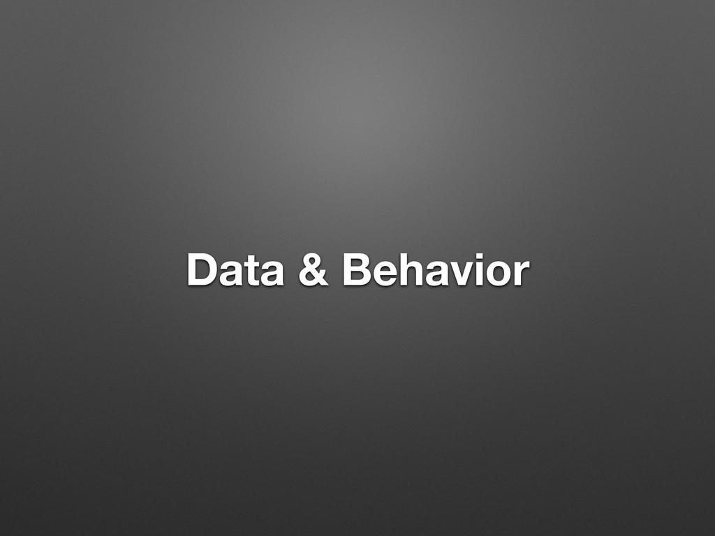 Data & Behavior