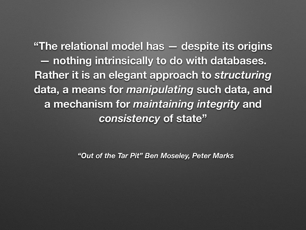 """""""Out of the Tar Pit"""" Ben Moseley, Peter Marks """"..."""