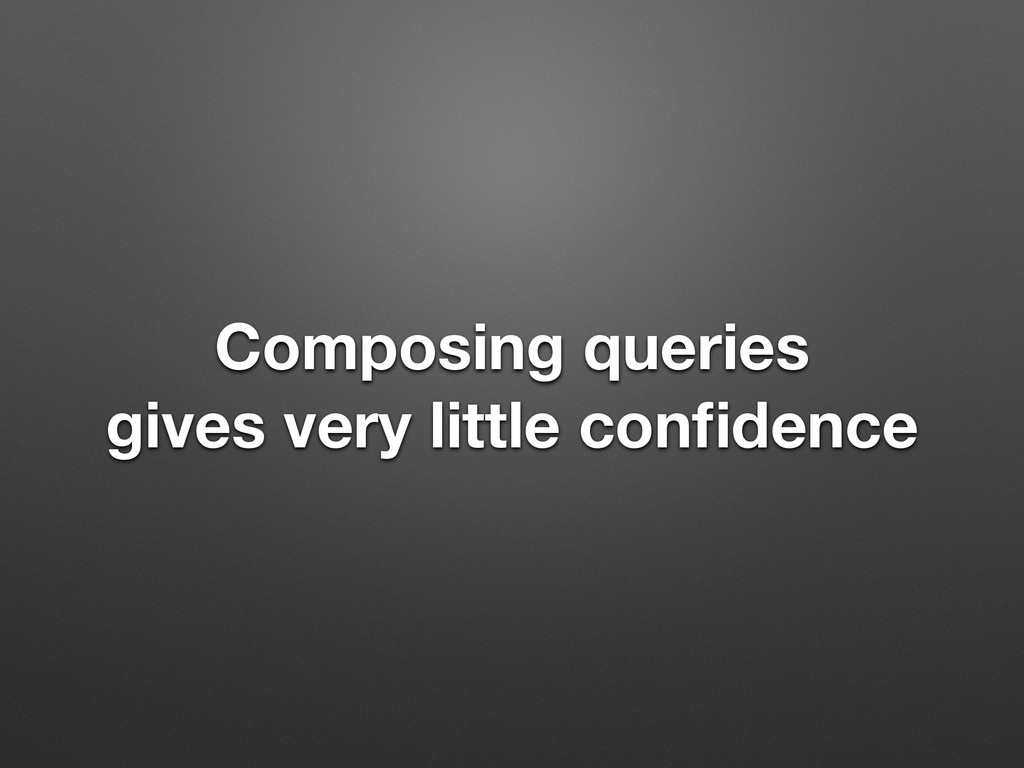 Composing queries gives very little confidence