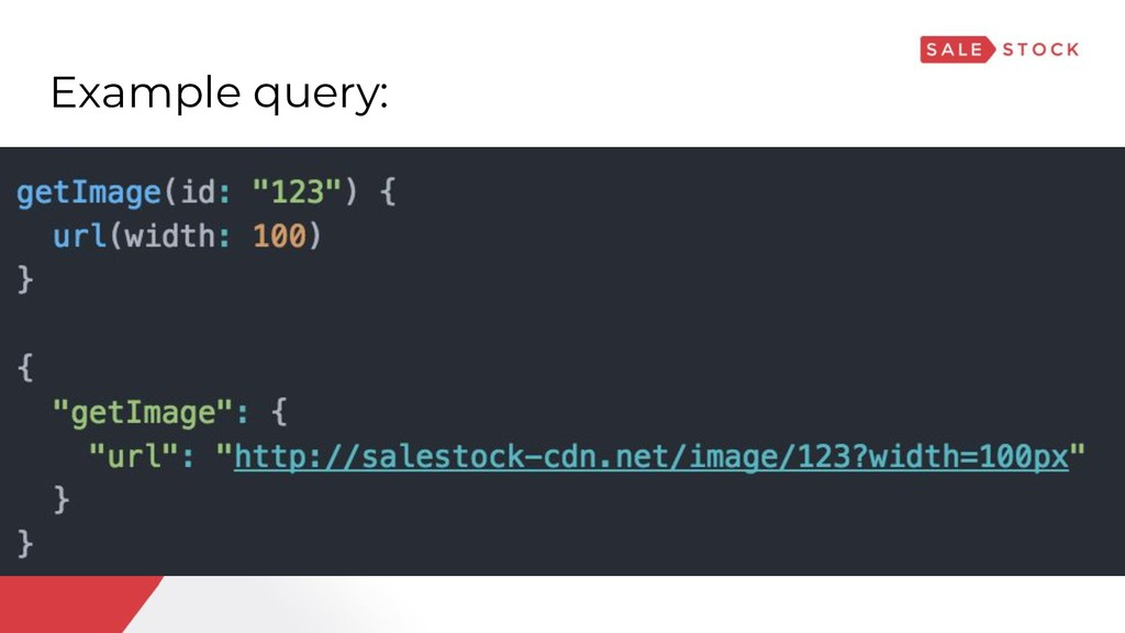 Example query: