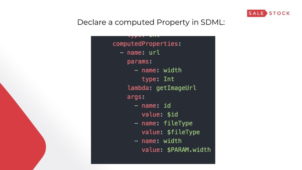 Declare a computed Property in SDML: