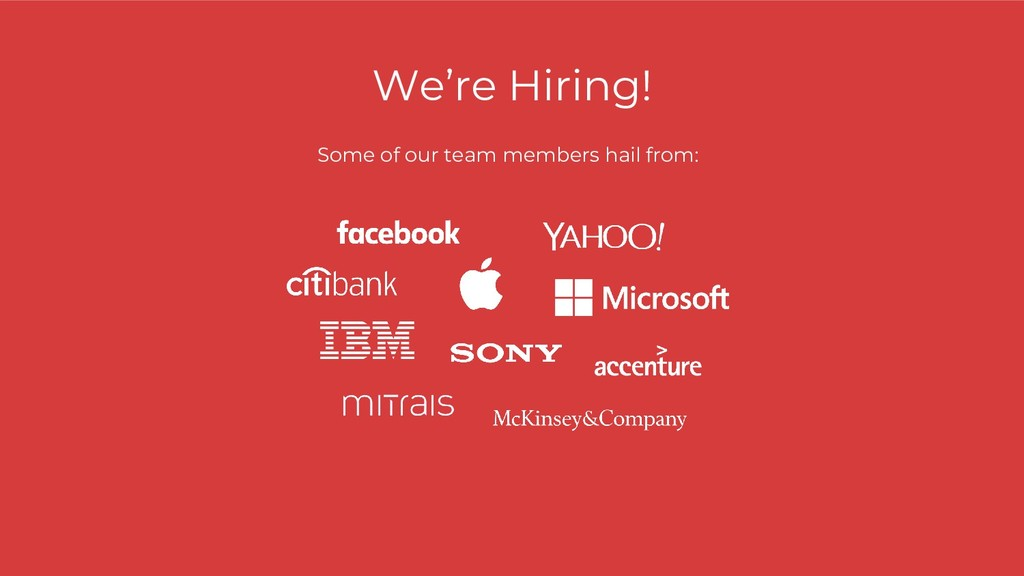 We're Hiring! Some of our team members hail fro...