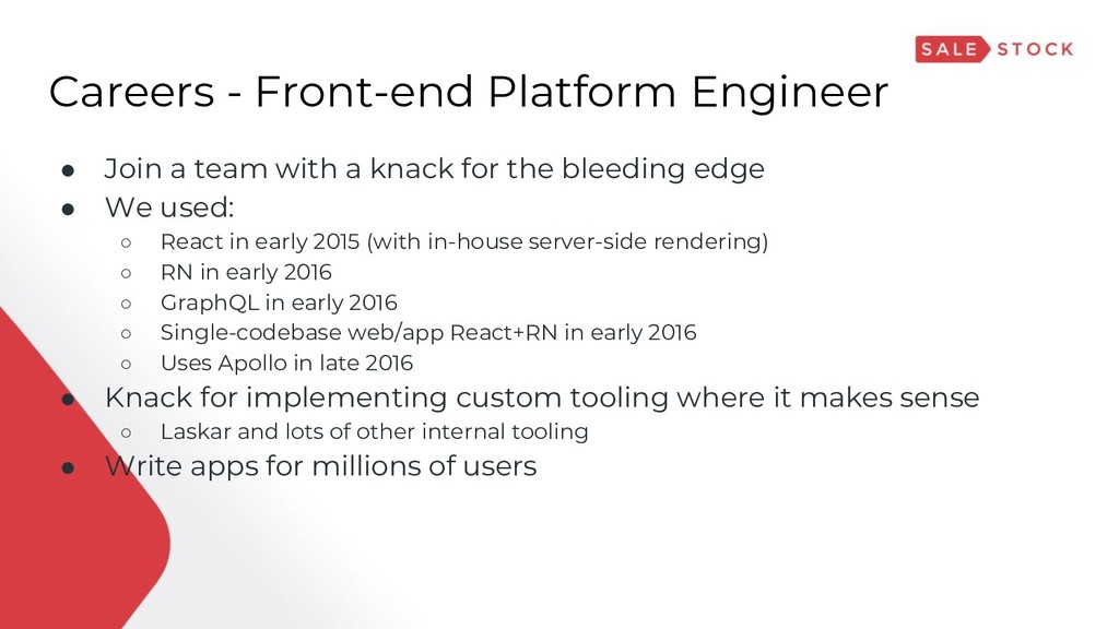 Careers - Front-end Platform Engineer ● Join a ...