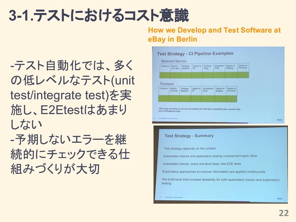 3-1.テストにおけるコスト意識 How we Develop and Test Softwa...