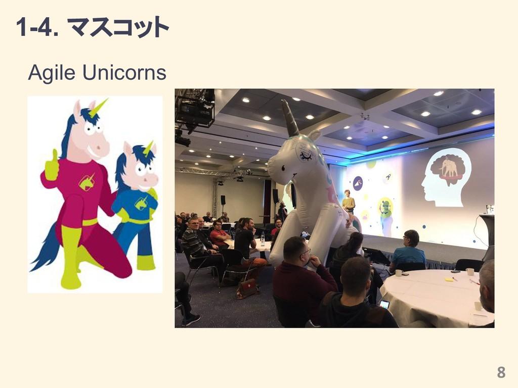 1-4. マスコット Agile Unicorns 8