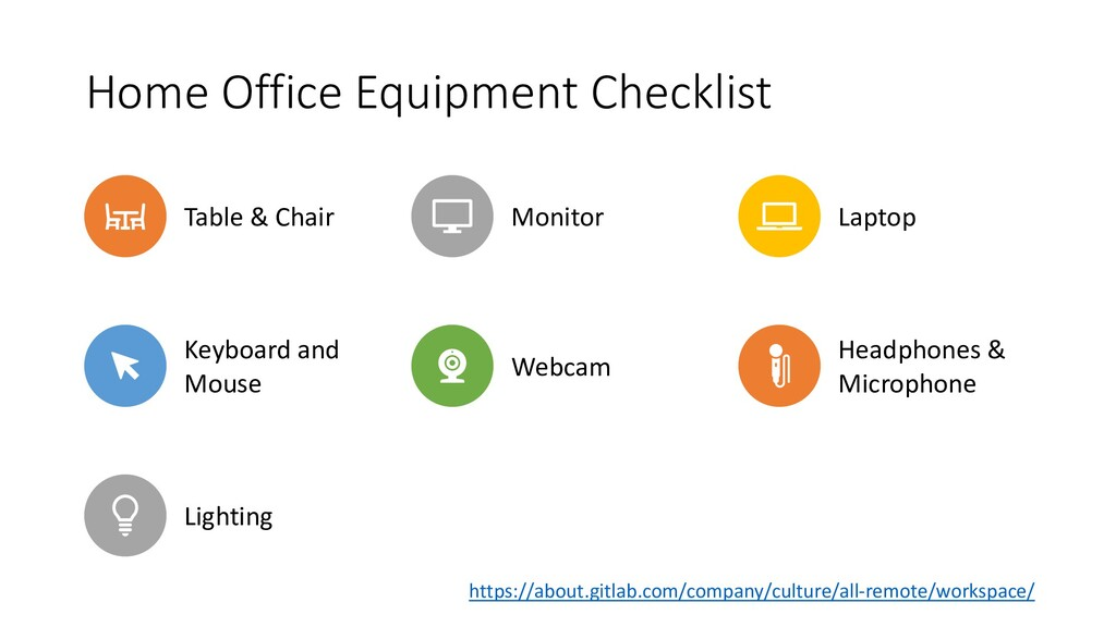 Home Office Equipment Checklist Table & Chair M...