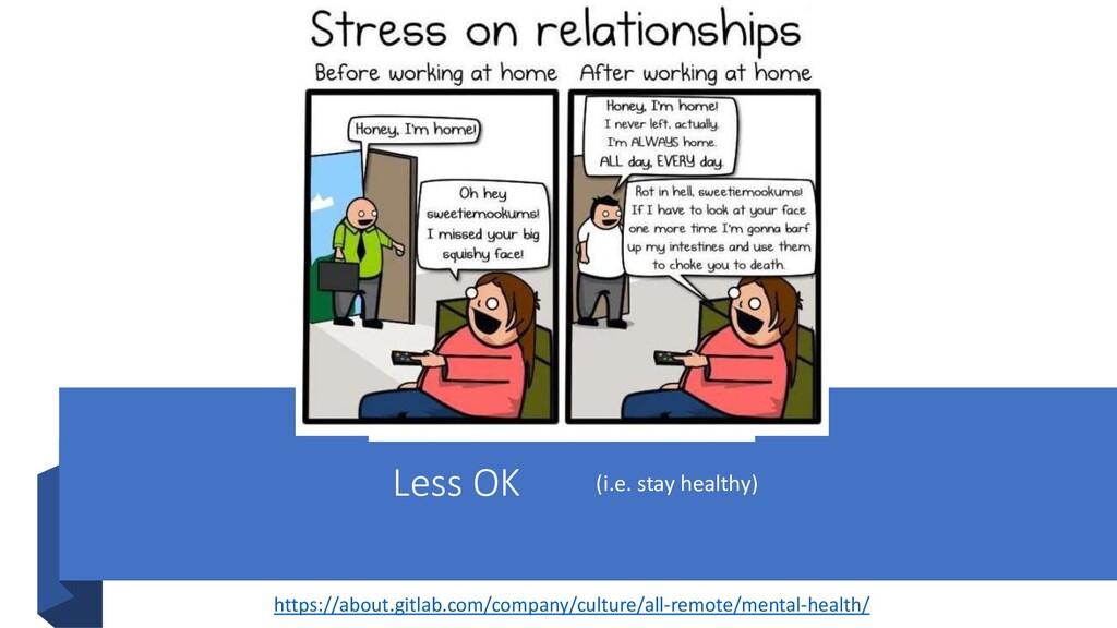 Less OK (i.e. stay healthy) https://about.gitla...
