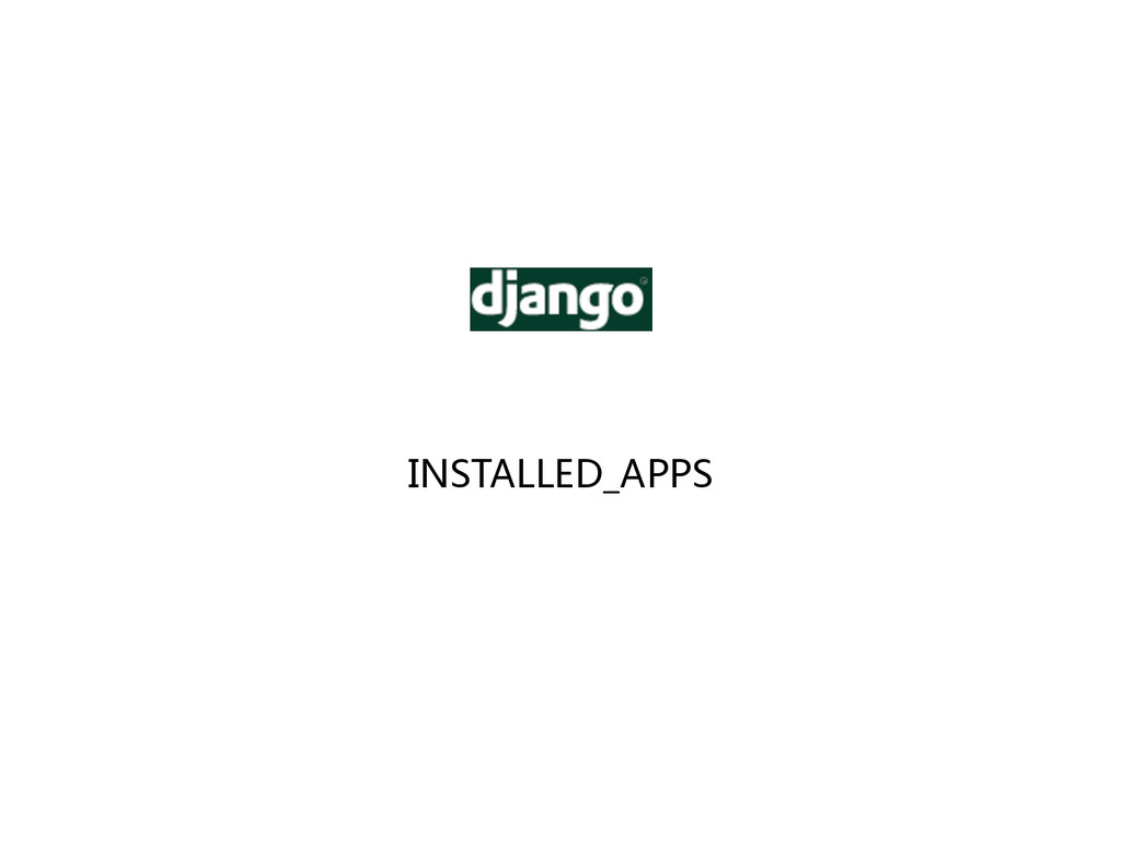 INSTALLED_APPS